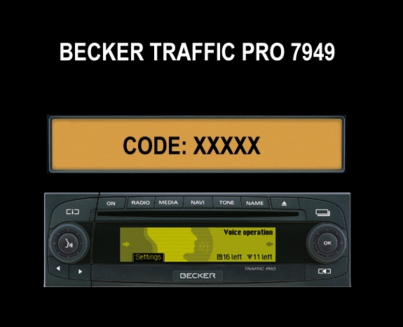Auto Radio Key Code Becker BE7949 Traffic Pro