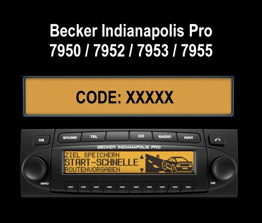 Auto Radio Key Code Becker BE7950 Indianapolis Pro